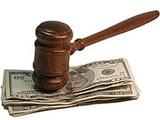 Gavel on cash bail